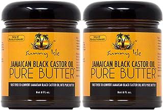 Sunny Isle Black Castor Oil Pure Butter (Original) 8oz (Pack of 2)