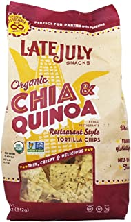 Late July Restaurant Style Chia and Quinoa Tortilla Chips, 11 Ounce - 9 per case.