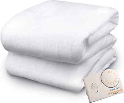 Pure Warmth by Biddeford Twin Size Electric Heated Mattress Pad Natural