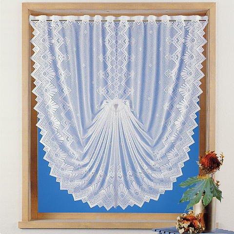 Gardine Scheibengardine Fensterbild Jacquard Country Cottage HxB 145x128 cm in weiß - Deko Schwalbenschwanz - Vorhang in geprüfter Qualität - Ökotex …auspacken, aufhängen, fertig! Typ86
