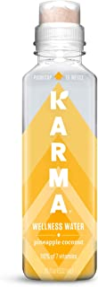 Sponsored Ad - Karma Wellness Flavored Vitamin Water, Pineapple Coconut, 18 Fl Oz (Pack of 12), Improve Hydration with Gre...