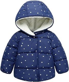 NiceYY 1-3 歳 ベビー服 ダウンジャケット 星柄 子ども ダウンコート 裏起毛 キッズ コート 男の子 女の子 赤ちゃん 子供服 中綿 防寒 可愛い ふわふわ 暖かい 冬