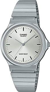 CASIO Unisex Adult Analogue Quartz Watch with Stainless Steel Strap MQ-24D-7EEF