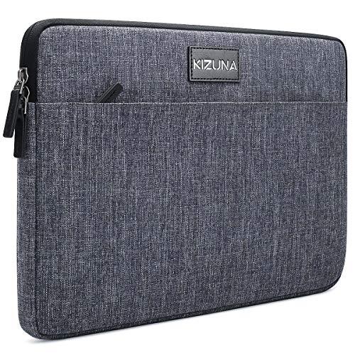 KIZUNA 10 Inch Laptop Sleeve Case Water Resistant Computer Tablet Bag for Apple 10.2' iPad/9.7' 10.5' 11' iPad Pro/10.5' Microsoft Surface Go 2/Samsung Tab S6/Huawei MediaPad/Lenovo Smart Tab, Grey