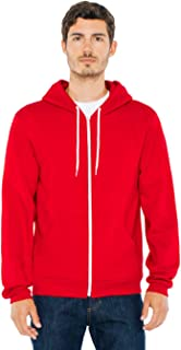 American Apparel Men Flex Fleece Two-Tone Zip Hoodie