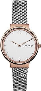 Skagen SKW2616 Reloj de vestir de cuarzo para mujer, de malla de acero inoxidable en dos tonos, color: plateado y tono oro rosa