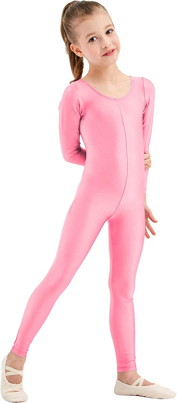 speerise Girls Kids Long Sleeve Spandex One Piece Dance Unitard