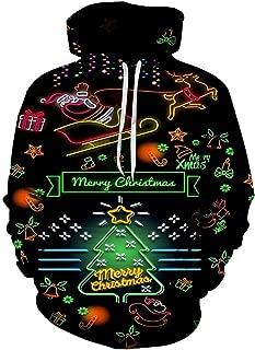 👏 Happylove 👏 New Christmas Style Couple's Christmas 3D Printed Long Sleeve Hoodies Funny Style Women Sweatshirt