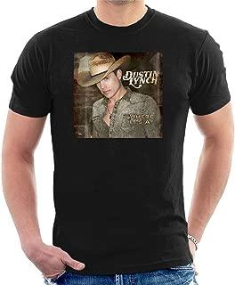 Men's Dustin Lynch Where It's at Black T-Shirt Classic Cool Tee