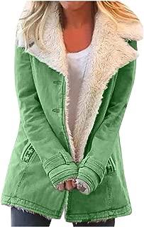 Composite Plush Button Jacket, QIQIU Womens Winter Plus Size Loose Lapels Pockets Long Sleeve Jacket Loose Outwear Coat