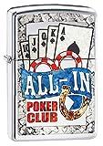 Zippo Feuerzeug AL IN Poker Design Encendedor, latón, Chrom, 5.5 x 3.5 x 1 cm