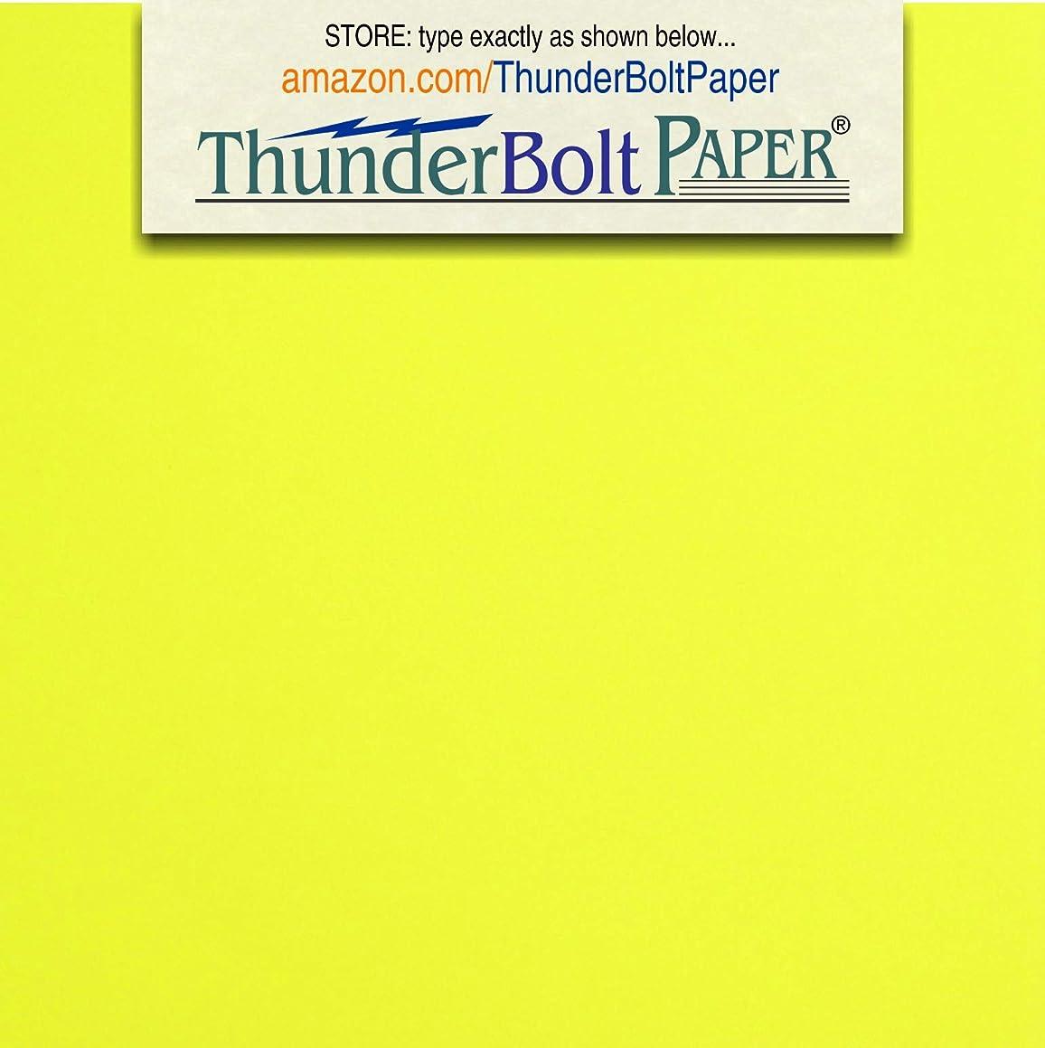 200 Bright Neon Yellow Fluorescent Color Cardstock - 4