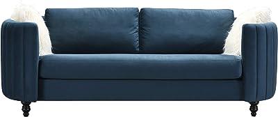 Amazon.com: Mid Century Modern Linen Fabric Living Room Sofa ...