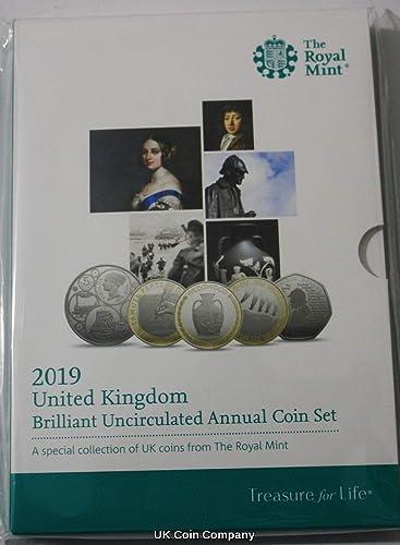 Uk Coin Company 2019 United Kingdom Brilliant Unzirkuliertes Jahresmünzenset