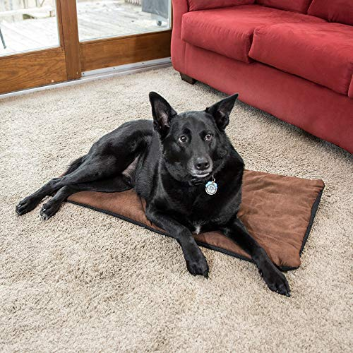 Premium Pet Bed Mat: Soft Self Warming Dog Bed - Crate Pad for Dogs and Cats - Medium Dog Beds, Small Dog Beds - Cat Bed with Reflective Core - Puppy Bed