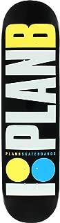 Plan B OG NEON Skate Deck-7.75 BLK/WHT/YEL/BLU
