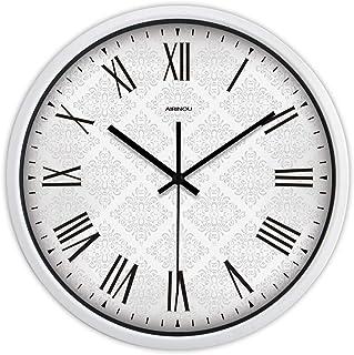 12インチ/ 14インチのヴィンテージのダニ以外の壁時計ローマ数字のクォーツ時計 JSFQ (Color : A, Size : 30cm)