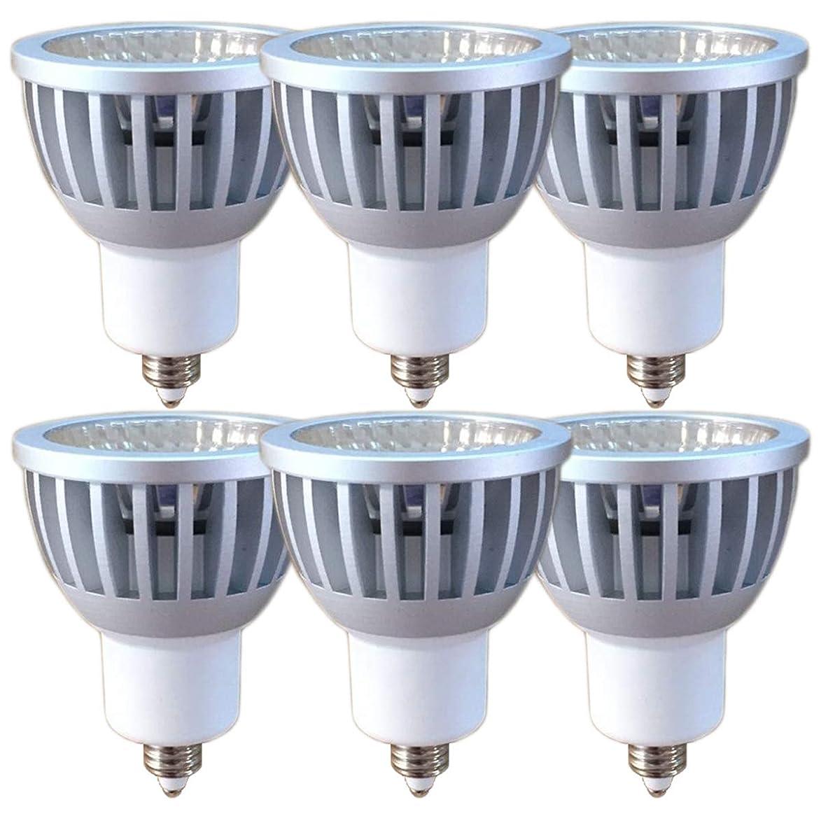 誤解銅線Fwaytech LEDスポットライト E11 狭角15度 COB7W JDRφ50 調光対応 LEDハロゲン電球形 60W~75W相当 密閉器具対応 ダイクロハロゲン 6個セット (昼白色相当(狭角15度), E11口金(調光対応))