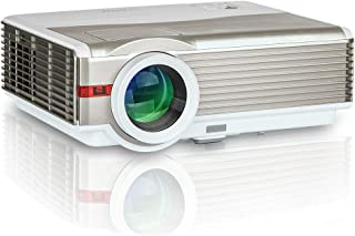 """EUG 5000Lumens LCD LED Projector 1080P HD Supported 200"""" Display Multimedia WXGA Home Theater Projector with HDMI Cable Co..."""