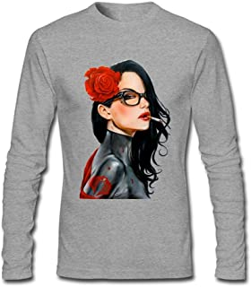 Linsa Men's G.I.Joe Baroness Design Cotton Long Sleeve T Shirt