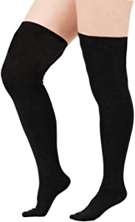 Zando Women Stripe Tube Dresses Over the Knee Thigh High Stockings Cosplay Socks