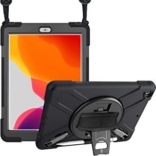 ProCase iPad 10.2 (2020 8th Generation/ 2019 7th Generation) Rugged Case, Heavy Duty Shockproof Protective Cover 360 Rotat...
