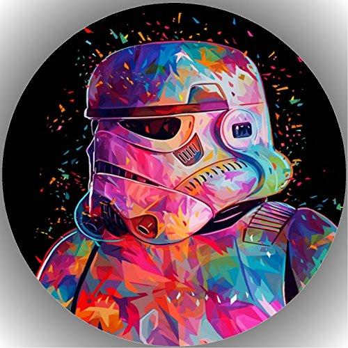 Fondant Tortenaufleger Tortenbild Geburtstag Star Wars AMA34
