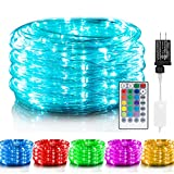 Color Changing Rope Lights: 33 Ft 100 LED Outdoor String Lights with Plug &...