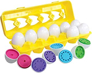 AM ANNA Color Matching Egg Set - Toddler Toys - Educational Color & Number Recognition Skills Learning Toy - Easter Eggs