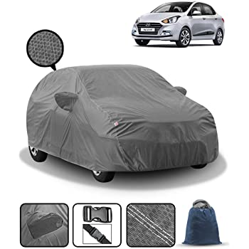 Fabtec Car Body Cover for Hyundai Xcent with Mirror Pocket and Storage Bag Combo (Heavy Duty)
