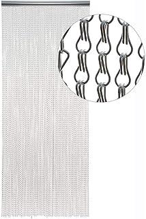 SZIVYSHI Reino Unido Cortina de Cadena de Store Plateado Aluminio Metal Protector de Fly Cortina persianas Control de plagas de Insectos (10 años de garantía – 90 cm x 210 cm)