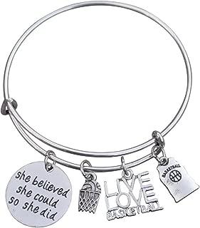 Infinity Collection Basketball Bangle Bracelet- Basketball Bracelet- Basketball Jewelry- Perfect Basketball Gift