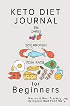 Keto Diet Journal for Beginners: Macros & Meal Tracking Log Ketogenic Diet Food Diary (Weight Loss & Fitness Planners)