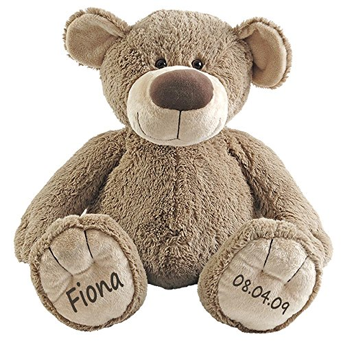 Elefantasie Stofftier Teddy Bär Geschenk mit Namen und Geburtsdatum personalisiert 30cm