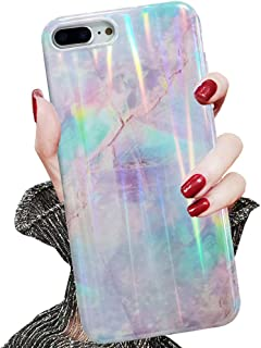 J.west Case for iPhone 7 Plus,iPhone 8 Plus Case, Holographic Series Unique Cotton Candy Pattern Shock Absorption Protection Clear Bumper Soft TPU Cover Case for iPhone 7 Plus/iPhone 8 Plus 5.5