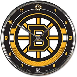 59419e828 Wincraft Boston Bruins 12 inch Round Wall Clock Chrome Plated
