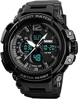Mens Analog Digital Sports Watches Multifunctional Military 50M Waterproof Alarm Backlight LED Watch