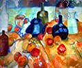 Contemporary Licensed Art Mural Ceramic Backsplash Bath Fruits Nella Tile Behind Stove Range Sink Splashback, Matte by FlekmanArt