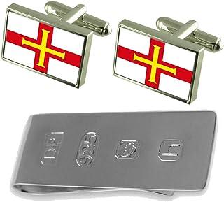 Guernsey Flag Cufflinks & James Bondお金クリップ