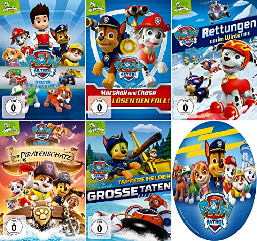 Paw Patrol - Volume 1-5 (Toggolino) im Set - Deutsche Originalware [5 DVDs]