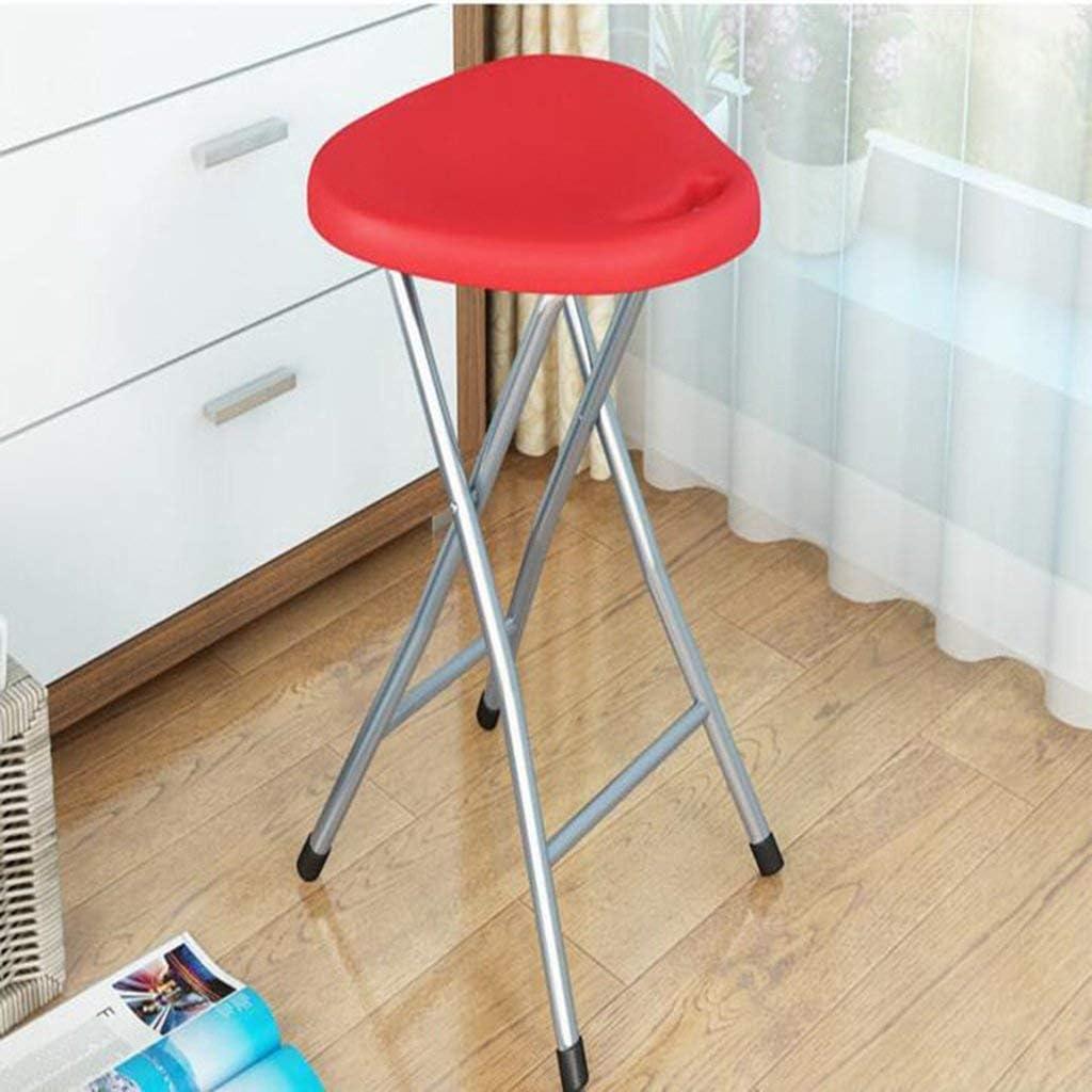 O&YQ Tabouret Pliable Chaise en Plastique Bureau Ordinateur Tabouret Ménage Loisirs Tabouret Portable Tabouret de Pêche Tabouret Décoratifrouge Rouge