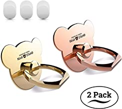 Cell Phone Finger Ring Holder, Universal Smartphone Bracket Animal Bear Ring Grip Kickstand for iphone X 8 8S 7 Plus 6 6S 5 5C 5S, Samsung Galaxy S8 S7 Edge S6 Note 8 5 Tablet (Rose Gold, Gold) 2pc