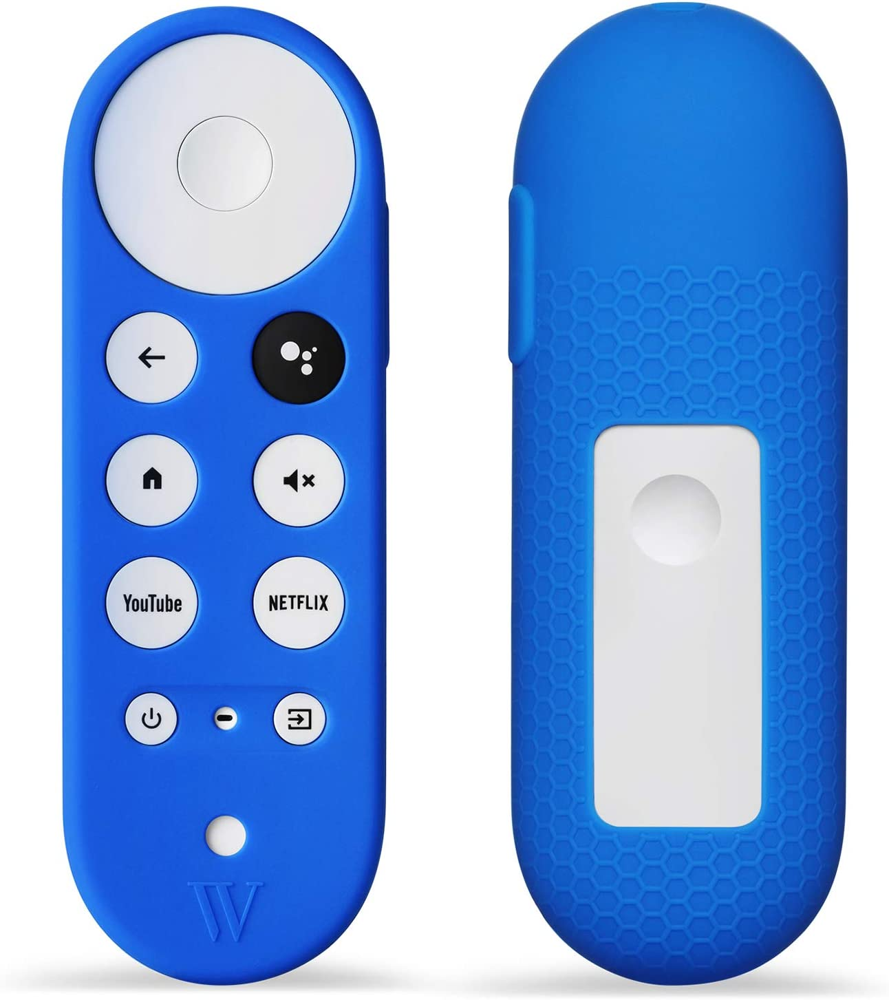 Wasserstein Silicone Skin Compatible with Chromecast with Google TV Remote Control - Protective Cover for Your Remote Control (Blue)