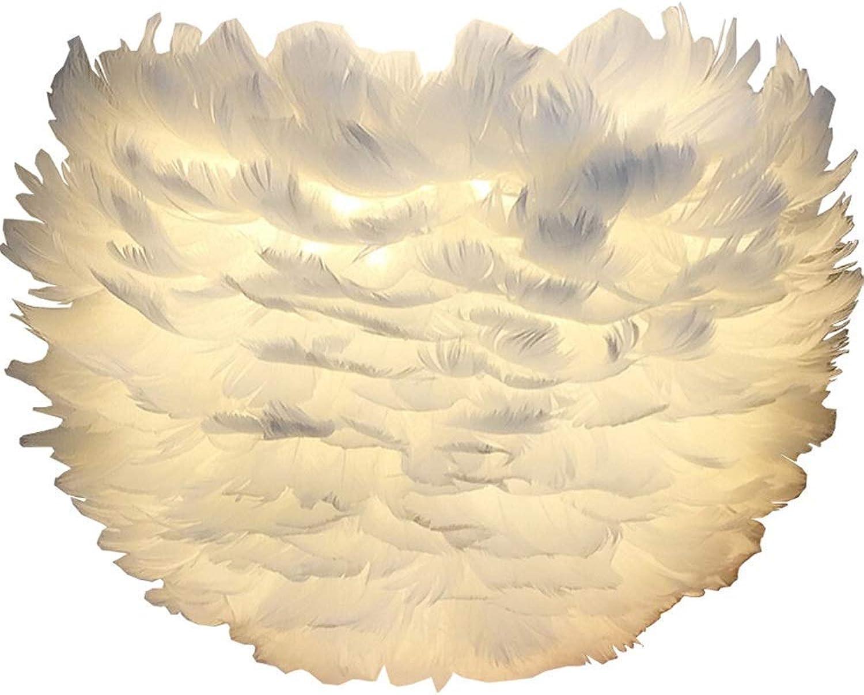 SGWH LED Feder Wandleuchten, warme romantische Nachtwandleuchten Post-Modernes Wohnzimmer Studie Flur Dekoration Beleuchtung Wandlampen 30 cm  26 cm