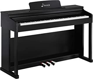 Donner DDP-100 Digital Piano 88 Key Weighted, Electric Piano with Full Size Weighted Keyboard, Power Supply, Furniture Stand and Triple Pedals, Suitable for Kids Teen Adults Beginners or Training