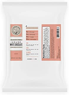 Sugar Free House White Chocolate, Naturally Sweetened with Stevia & Erythritol (Erythritol-Blend, 3 lb)