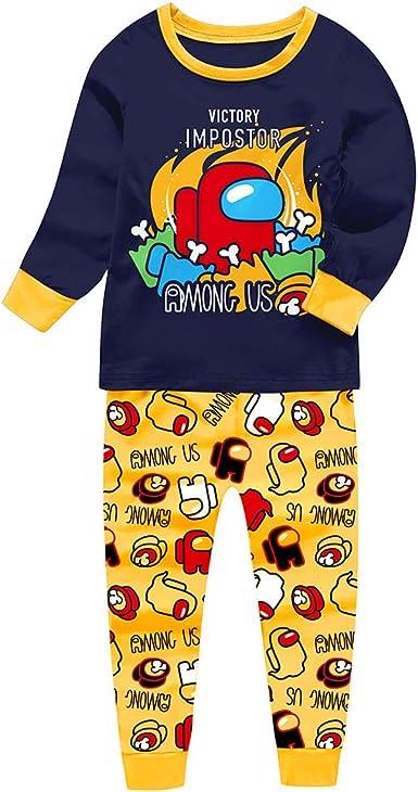 Conjunto de pijama de algodón para niños con texto en inglés