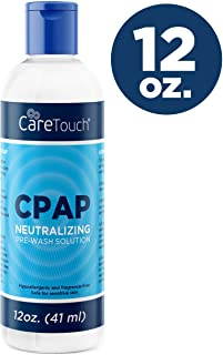 Care Touch CPAP Soap Cleaner for Your CPAP Supplies, Neutralizing Pre-Wash Soap, Fragrance and Dye Free, 12 Ounce Bottle