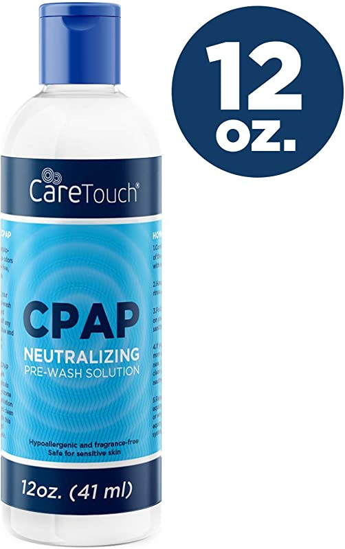 Care Touch CPAP Soap Cleaner For Your CPAP Supplies Neutralizing Pre Wash Soap Fragrance And Dye Free 12 Ounce Bottle