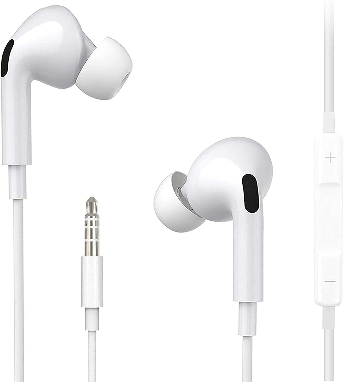 Auriculares,Auriculares de 3,5 mm,Auriculares In-Ear con Cancelación de Ruido con Micrófono y Control de Volumen, Aptos para Deportes, para iPhone, iPad, Huawei, Xiaomi, Android, PC, MP3/MP4